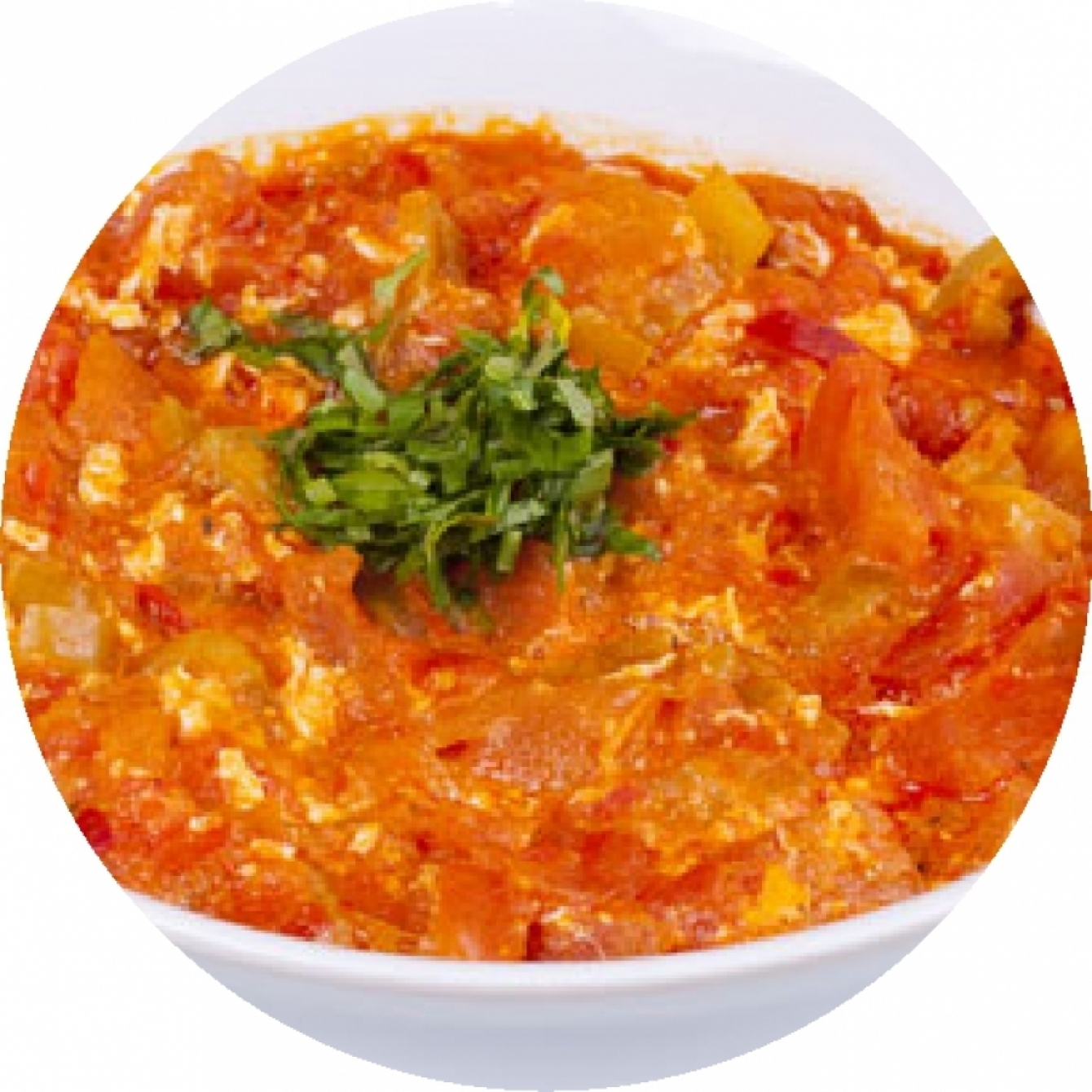 Menemen with ground meat